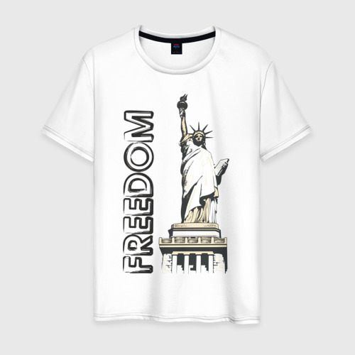 Мужская футболка хлопок Freedom