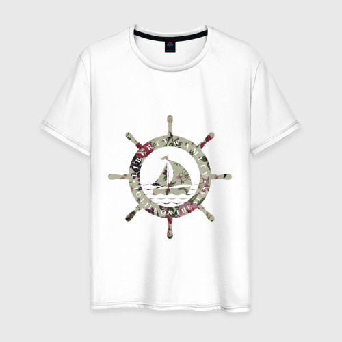 Мужская футболка хлопок Flower Wheel