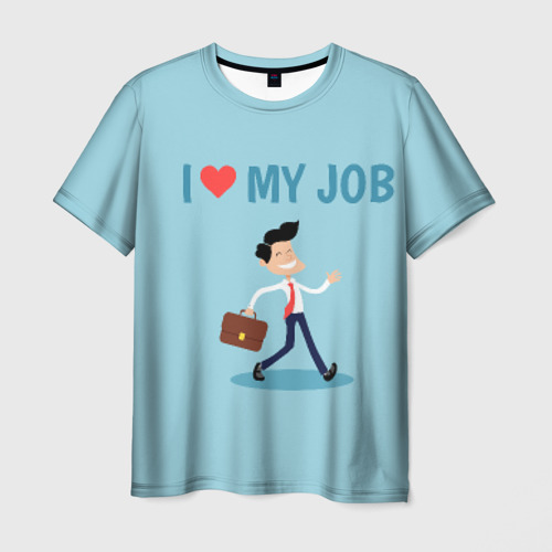Мужская футболка 3D Я люблю свою работу