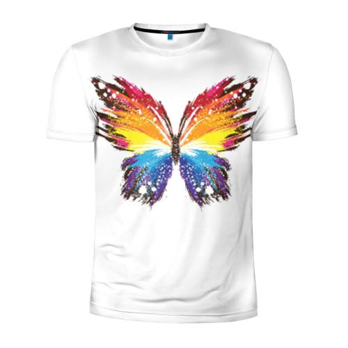 Мужская футболка 3D спортивная Butterfly