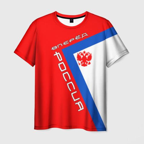 Мужская футболка 3D Вперёд, Россия!