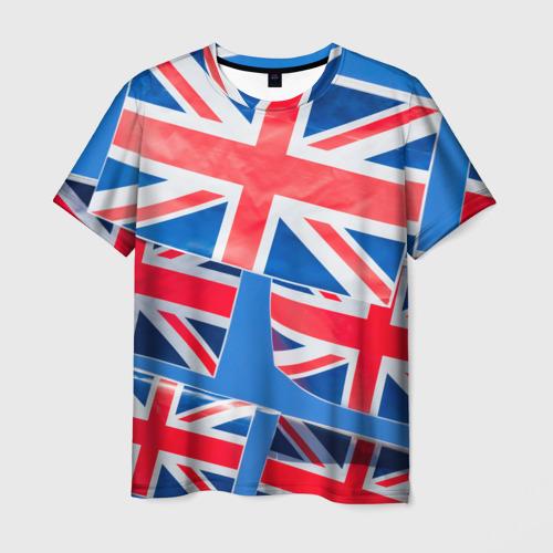 Мужская футболка 3D Британские флаги