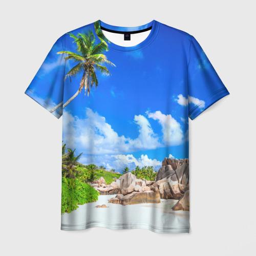 Мужская футболка 3D Сейшельские острова