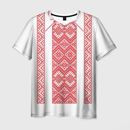 Мужская футболка 3D Вышивка 46