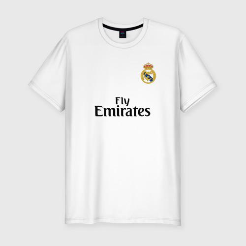 Мужская футболка хлопок Slim Реал форма