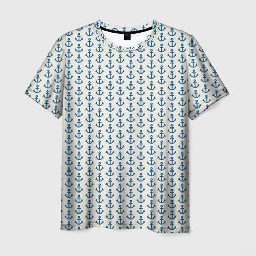 Мужская футболка 3D Якоря