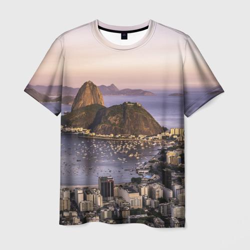 Мужская футболка 3D Рио (Бразилия)