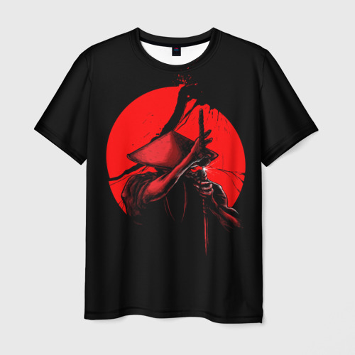 Мужская футболка 3D Сила самурая